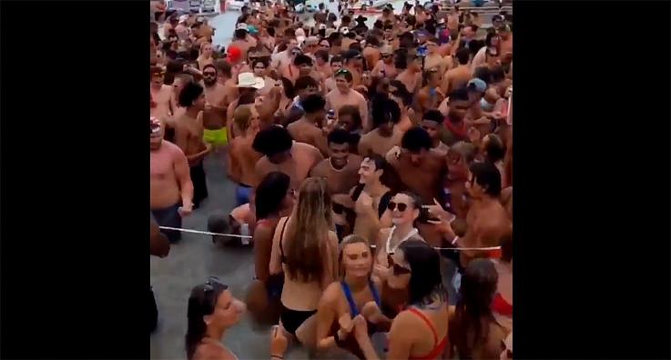 7월 4일 미시간 호수에서 주말파티를 즐겼던 수 많은 사람들, 몇 사람 Covid-19 감염