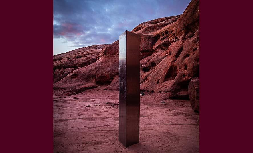 유타사막에서 발견된 불가사의한 구조물