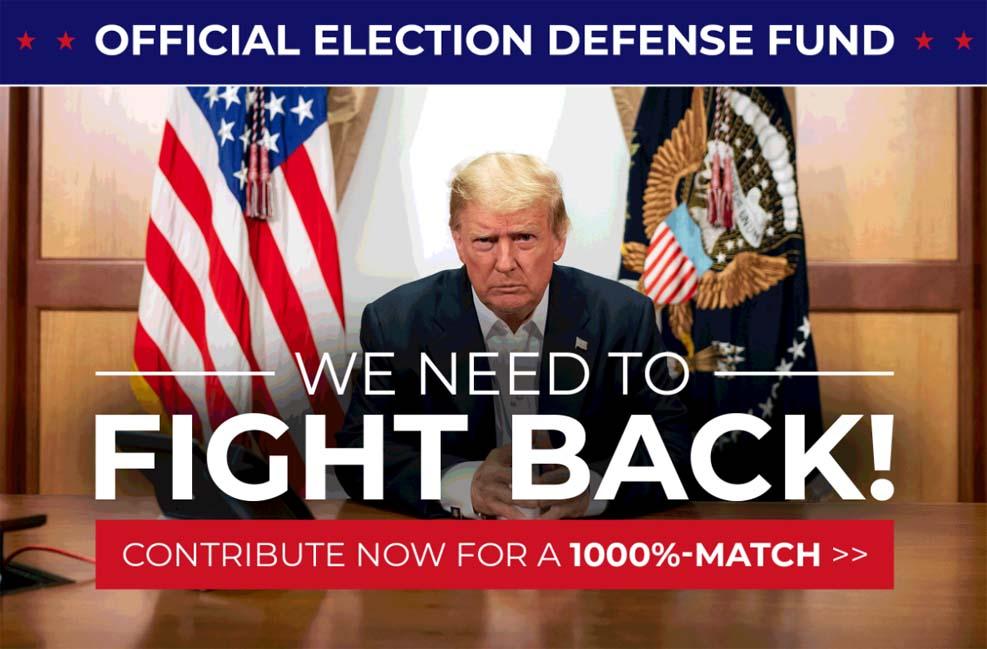 트럼프 선거캠프, 위스콘신 2개 카운티 재검표 3백만 달러 지출