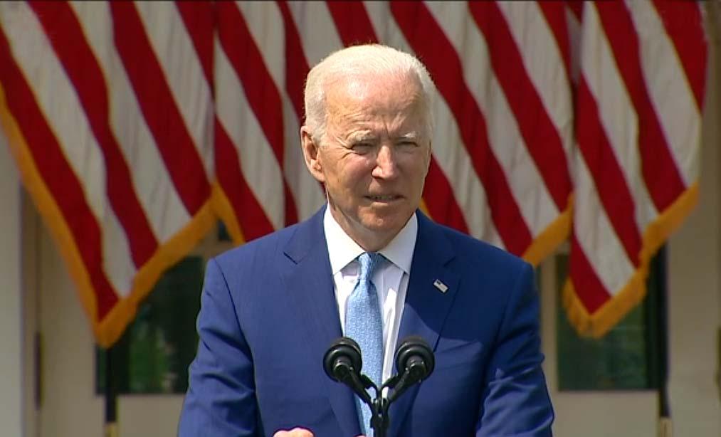 바이든 대통령, 총기 규제조치 백악관 로즈가든에서 발표