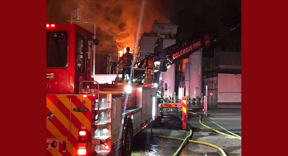 페인트 공장 폭발로 1명 실종, 8명 부상, 2명 중태