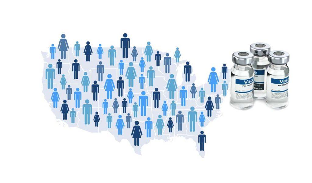 미국의 백신접종 계획대로 순항