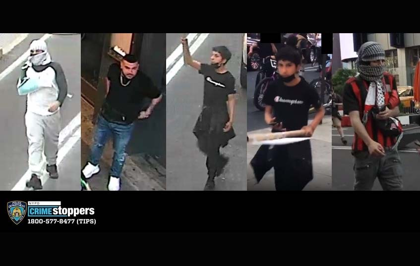 뉴욕 타임 스퀘어에서 무차별 집단 폭행 당한 유태인