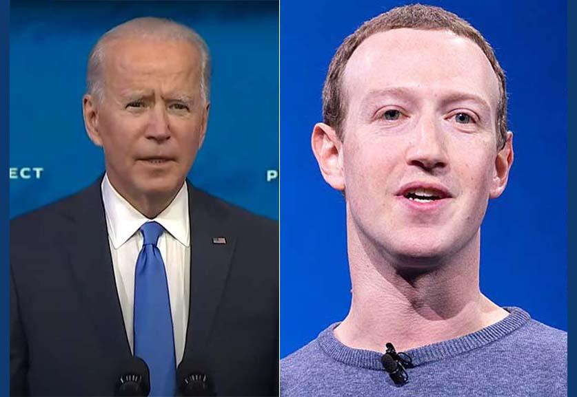 이메일을 통해 밝혀진 바이든 캠페인과 페이스북 사이의 긴장