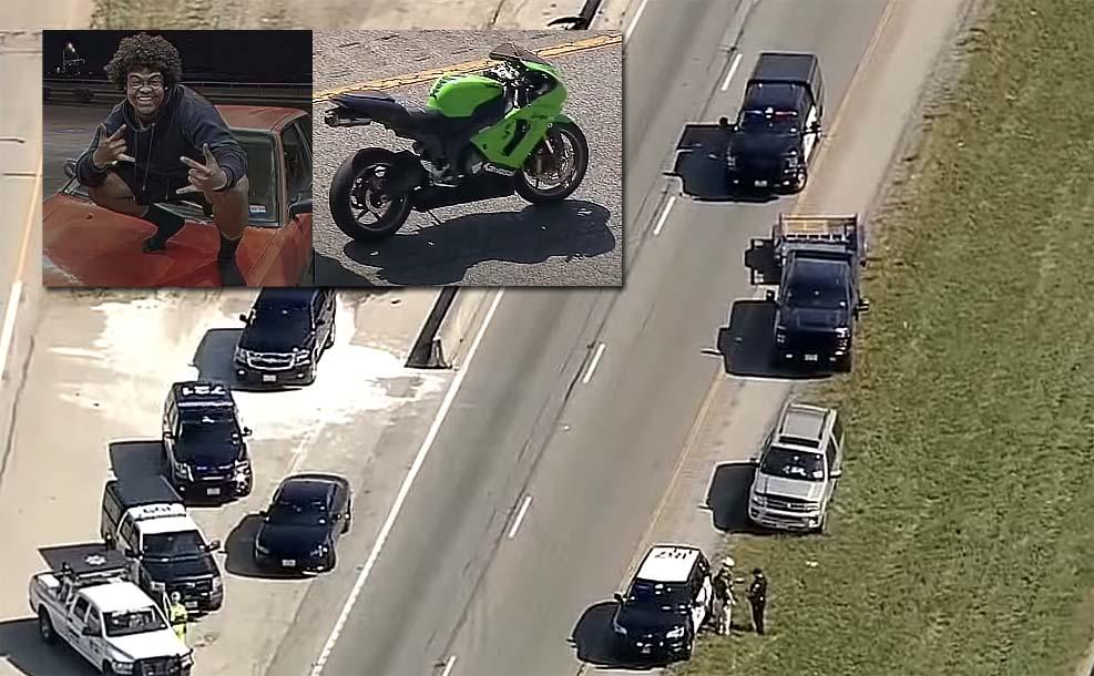 한 오토바이 운전자, 도로에서 총 뽑다 상대 운전자 총 맞아 사망