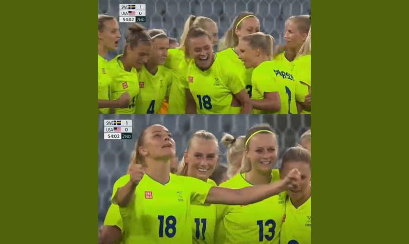 미국 여자 축구, 도쿄올림픽 개막전에서 스웨덴에 3-0 대패