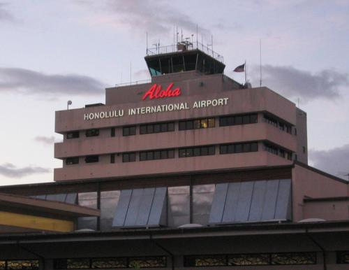 Honolulu Airport Welcome Sign