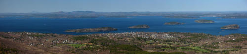 Frenchman bay and bar harbor from cadillac mountain acadia np