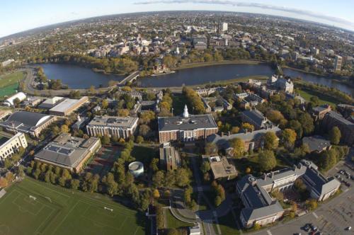 Aerial of the Harvard Business School campus