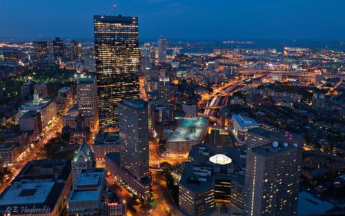 Boston Downtown night