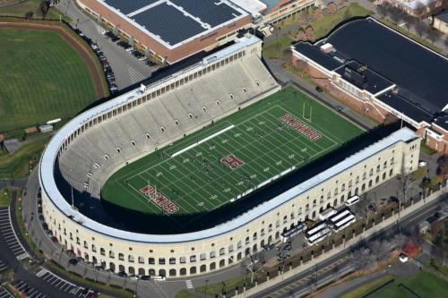 Harvard Stadium aerial axonometric
