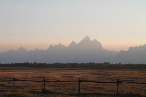 Sunset over the Grand Tetons 2