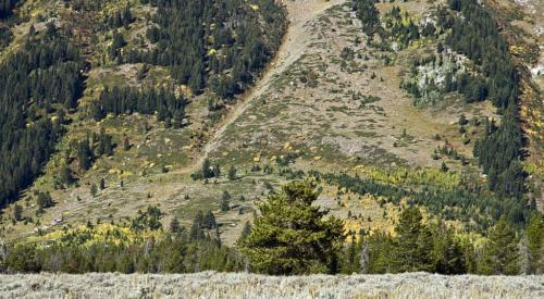 Teton Fault Scarp WY1