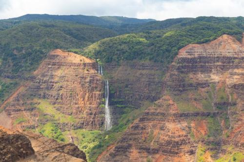 Waipo'o Falls Waimea Canyon Park waterfall Kauai Hawaii