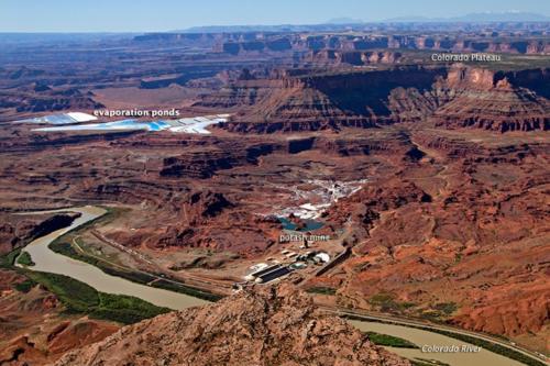 Potash mine Moab NASA