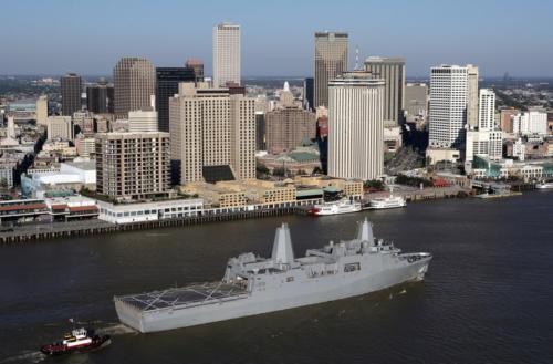 USS Passing NewOrleans