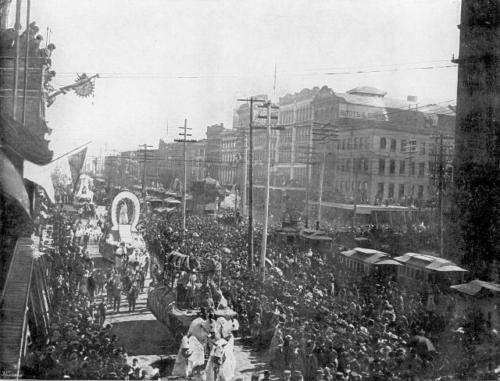 Mardi Gras Canal Street 1890s Chartres Gazebo
