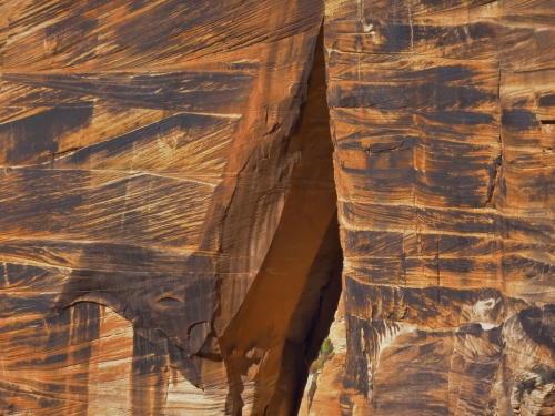 Crossbeds in Navajo Sandstone Zion NP Utah USA